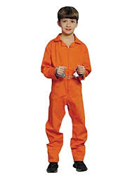 prison jumpsuit costume boys child orange prisoner prison jumpsuit costume 6 8yrs