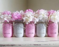 Mason Jar Wedding Decorations Shabby Chic Mason Jars Wedding Centerpieces Lace Candle