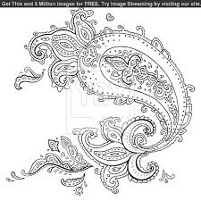 paisley design coloring pages for adults printable