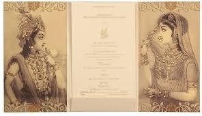 traditional indian wedding invitations radha krishna wedding card in and golden colourwedding cards