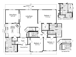 Split Floor Plan House Plans by The Easton Manufactured Home Floor Plan Or Modular Floor Plans