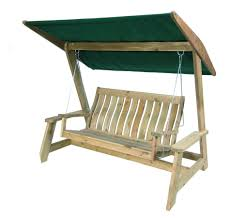 bench wooden porch swings outdoor glider with canopy porch