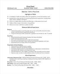Prep Cook Resume Examples Sample Resume Restaurant Restaurant Cook Resume Sample Resume