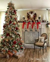Decorated Christmas Trees by Balsam Hill U0027s Red White And Sparkle Glitter Ribbon Tree