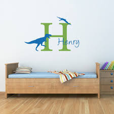 high quality custom boys name wall stickers with little baby high quality custom boys name wall stickers with little baby dinosaur silhouette cute wall mural custom name bedroom decor w 159 in wall stickers from home
