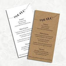 digital diy editable wedding menu template printable microsoft