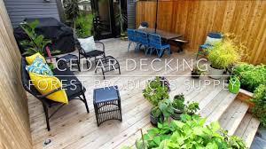 western red cedar decking youtube