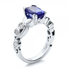 tanzanite wedding rings custom tanzanite and engagement ring 100112