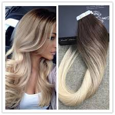 glued in hair extensions shine real human hair extensions glued in human hair
