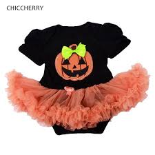 the devil pumpkin baby halloween costumes baby rompers dress lace