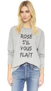 south parade rose s u0027il vous plait sweatshirt in gray lyst