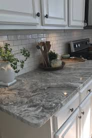 Herringbone Kitchen Backsplash Granite Countertop Countertops With White Cabinets How To