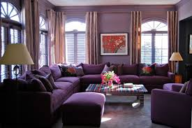 Living Room With Purple Sofa Furniture Cozy Purple Living Room With Purple Sofa And Purple
