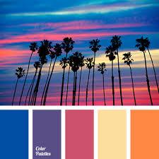 Blue Orange Color Scheme Blue Violet Bright Blue Color Match Color Solution For Interior