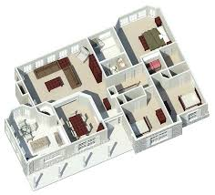 houseplans and more ranch house plan 3d floor 007d 0085 from houseplansandmore
