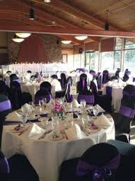 Purple Chair Covers Cadbury Purple Sashes And Black Chair Covers For A Wedding
