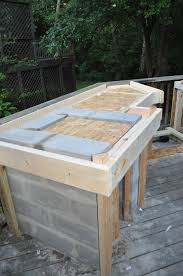 outdoor kitchen countertop ideas wonderful outdoor kitchen cinder block frame with granite tile for