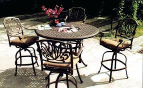 patio dining table and chairs patio high dining table sarasota throughout bar height patio dining