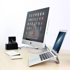 Macbook Pro Desk Mount Aluminum Laptop Stand Cooling Desk Riser Mount Holder For Macbook