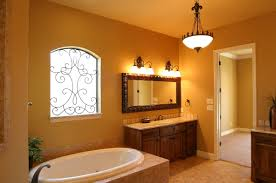 small bathroom design with orange paint all parts and paint small