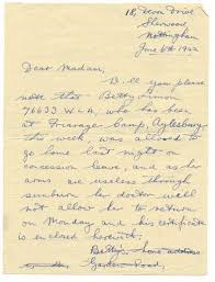 women at war the role of women during wwii hand written letter