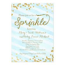 what is a sprinkle shower baby boy sprinkle shower invitation blue gold on raindrop