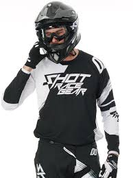 white motocross gear shot black 2017 contact claw mx jersey shot freestylextreme
