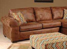 Chestnut Leather Sofa Leah Sectional Sofa In Chestnut Vinyl By Chelsea
