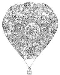 coloring pages air balloon 3 relax pinterest