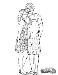 High School Musical Coloring Pages Hiseek Info Coloring Pages For High