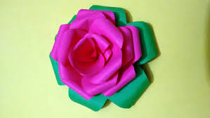 how to make rose flower by colorful paper paper craft for home