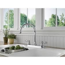 two handle kitchen faucets delta p299565lf apex two handle kitchen faucet homeclick com