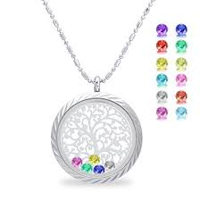 s day necklace with birthstone charms trendy design mothers necklace with names children s