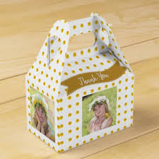 chagne wedding favors 4 photo collage gable box change background color gold wedding