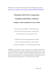 municipal solid waste composition sampling methodology