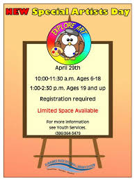 special artist day information district news suwannee county