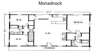 monadnock log home log homes kits u0026 plans by crockett
