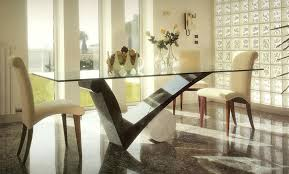 Glass Dining Room Table Tops Dining Room Extraordinary Modern Dining Room Decoration Using