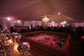 tent rentals allow you to be more creative with ceiling décor