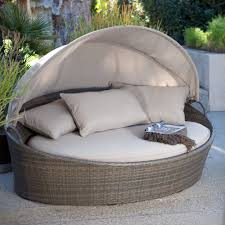 broyhill patio furniture coral coast moorea all weather wicker cabana day bed with canopy