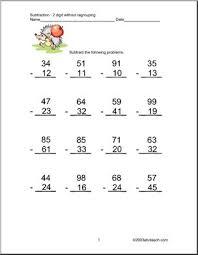 subtraction 2 digits set 4 clip art abcteach