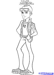 men monster high coloring pages free printable coloring pages for