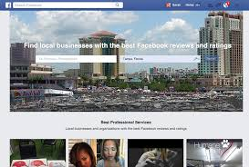 facebook takes on angie u0027s list and yelp with new site for finding