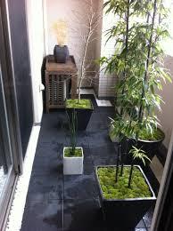 japanese spot garden in apartment balcony house ideas