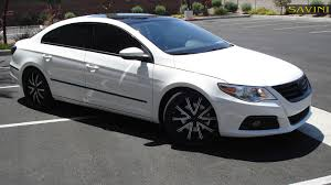 white volkswagen cc savini wheels
