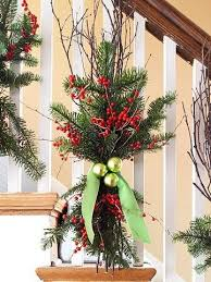 greenery and berries to decorate stairs 3