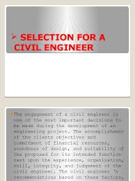 Responsibilities Of A Engineer Selection For A Civil Engineer Engineer Life Cycle Assessment