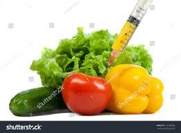 pile salad vegetables injected syringe stock photo 132185606