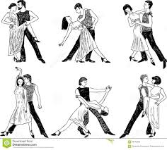 sketches of the dancing couples stock vector image 86472662