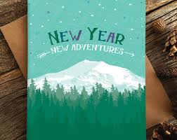 new years card etsy